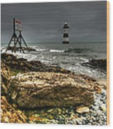 Trwyn Du Lighthouse Wood Print
