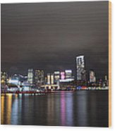 Tsim Sha Tsui - Kowloon At Night Wood Print by Enrique Rueda