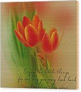 Tu-lips Wood Print