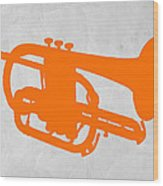 Tuba  Wood Print by Naxart Studio