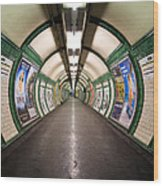 Tube Tunnel Wood Print