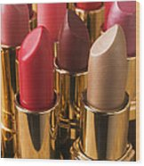 Tubes Of Lipstick Wood Print