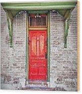 Tucson Red Door Wood Print