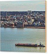 Tugboat On The Hudson Wood Print