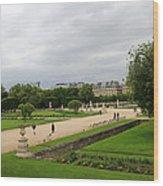 Tuileries Gardens 4 Wood Print