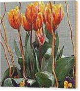Tulip Arrangement Wood Print
