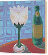 Tulip Champagne Wood Print