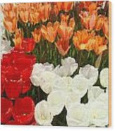Tulip Flowers Festival Art Prints Floral Baslee Wood Print