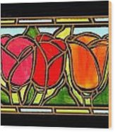 Tulip Friends Wood Print