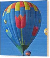 Tulip Hot Air Balloon Wood Print
