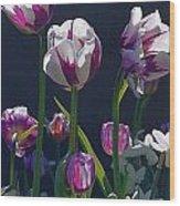 Tulip Springtime Memories Wood Print