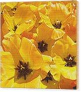 Tulips Art Prints Yellow Tulip Flowers Floral Wood Print