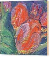 Tulips Wood Print by Barbara Anna Knauf