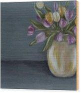 Tulips in vase II Wood Print
