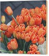 Tulips Wood Print by Leslie Leda