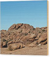 Tumbling Rocks Of Gold Butte Wood Print