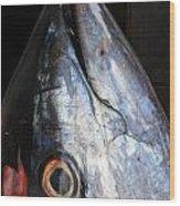 Tuna Head At Fish Market Wood Print