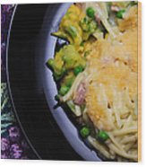 Tuna Noodle Casserole Wood Print