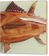 Tuna Sculpture Wood Print