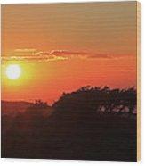 Tundra Sunset Wood Print