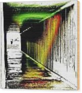 Tunnel Of Colour Wood Print