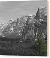 Tunnel View Selective Color Wood Print