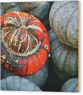 Turban Pumpkin Wood Print