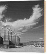 Turbine Town Palm Springs Wood Print
