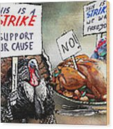 Turkey Strike Wood Print