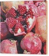 Turkish Pomegrants Wood Print