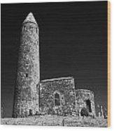 Turlough Round Tower County Mayo Ireland Wood Print
