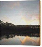Turner Lake Sunset Wood Print