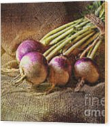 Turnips Wood Print