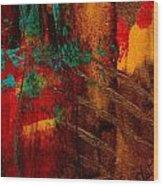 Turquoise Mountains Wood Print