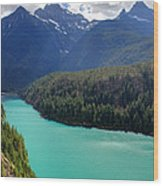 Turquoise Water Of Diablo Lake In The North Cascades Np Wood Print