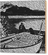 Turr Hunt Sketch Wood Print