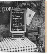 Tuscan Cafe Diner Wood Print by Andrew Soundarajan