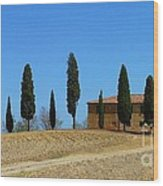 Tuscan House  I Cipressini/italy/europe  Wood Print