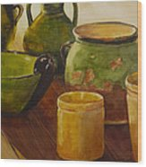 Tuscan Vases And Pots Wood Print