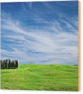 Tuscany Cypress Wood Print