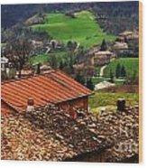 Tuscany Landscape 2 Wood Print
