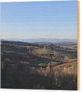Tuscany Valleys At Sunset Wood Print