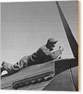 Tuskegee Airman, 1945 Wood Print