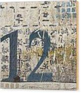 Twelve Left Wood Print by Carol Leigh