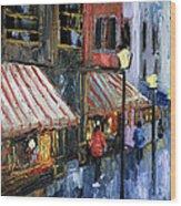 Twelve Street And Rine Wood Print