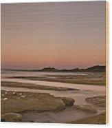 Twilight After A Sunset At A Beach Wood Print