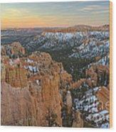 Twilight At Bryce Wood Print