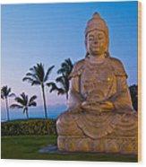 Twilight Buddha Wood Print