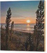 Twilight Desolation Wood Print