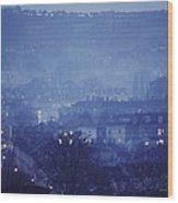Twilight In Bath, England Wood Print